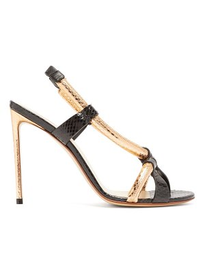 Francesco Russo rolled-strap ayers stiletto sandals