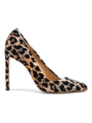 Francesco Russo velvet leopard pumps
