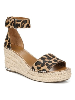 Franco Sarto clemens genuine calf hair espadrille wedge sandal