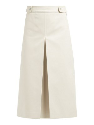 Françoise a line cotton midi skirt