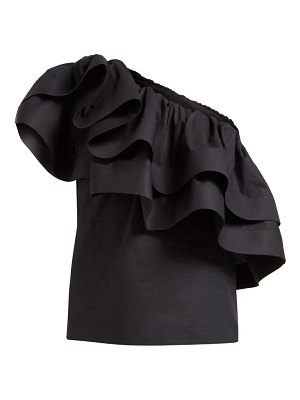 Françoise ruffled one shoulder cotton top