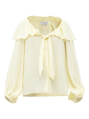 Françoise ruffled v-neck crepe blouse
