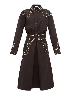 Françoise studded cotton-twill shirtdress