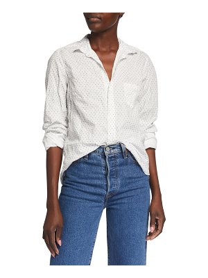 Frank & Eileen Barry Dotted Crinkle Button-Down Shirt