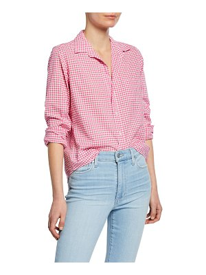 Frank & Eileen Barry Gingham Chambray Long-Sleeve Button-Down Shirt
