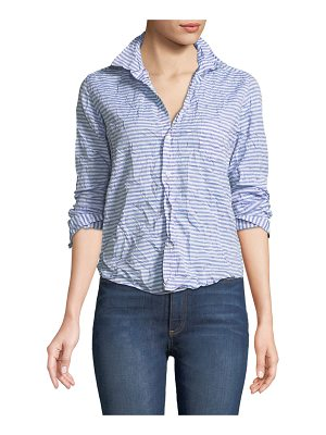 Frank & Eileen Barry Striped Poplin Button-Down Top