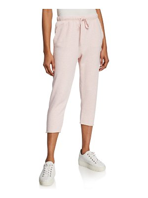 Frank & Eileen Cropped Drawstring Sweatpants with Raw Hem