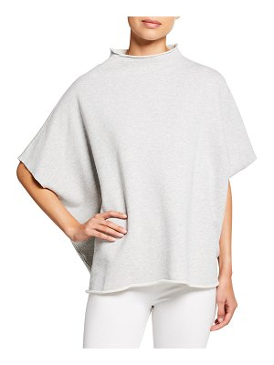Frank & Eileen Funnel-Neck Cotton Capelet Top