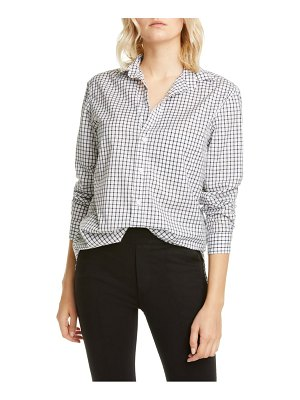 Frank & Eileen joedy windowpane cotton button-up shirt