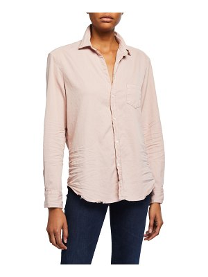 Frank & Eileen Long-Sleeve Cotton Button-Down Top