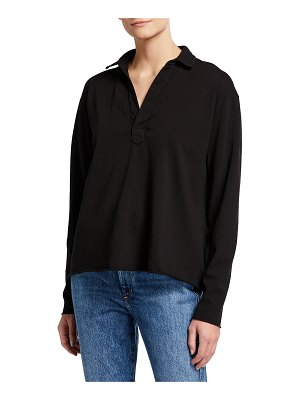 Frank & Eileen Popover French Terry Henley Top