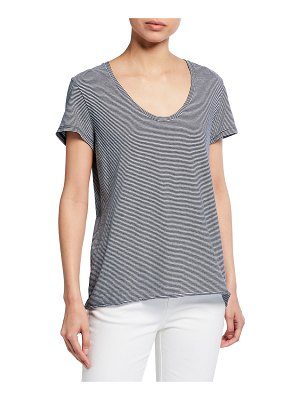 Frank & Eileen Stripe Scoop Neck Tee