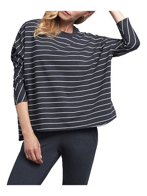 Frank & Eileen Striped Oversized Continuous Sleeve Sweatshirt