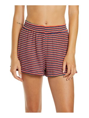 Frankie's Bikinis coco stripe terry cover-up shorts