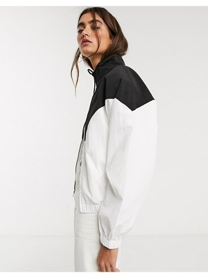 Fred Perry chevron shell jacket-white