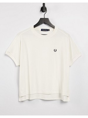 Fred Perry crew neck tshirt in white