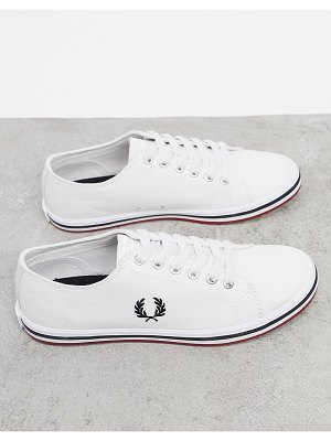 Fred Perry kingston twill sneakers in white