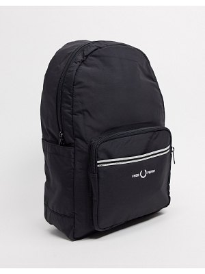 Fred Perry logo backpack in black