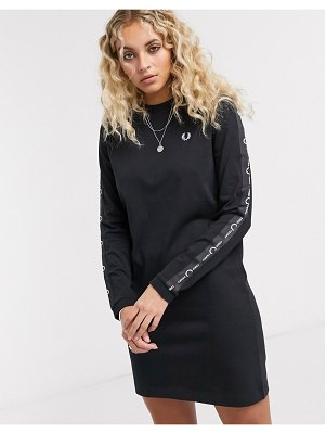 Fred Perry longsleeve taped dress-black