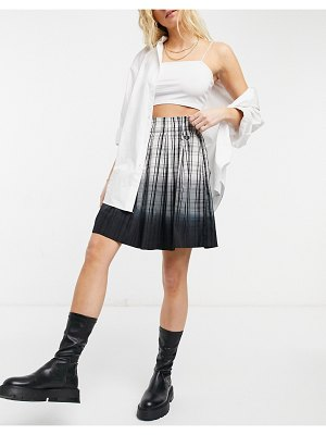 Fred Perry ombre tartan skirt-white