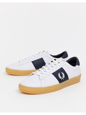 Fred Perry spencer leather sneaker with rubber sole-white