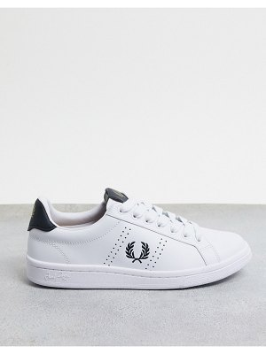 Fred Perry spencer leather sneakers in white