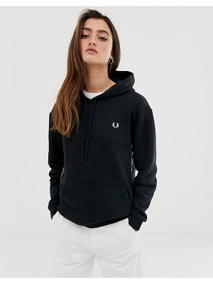 Fred Perry taped hooded sweatshirt-black