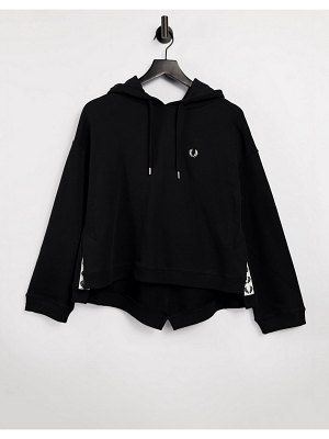 Fred Perry taped hoodie in black