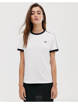 Fred Perry taped ringer t-shirt-white