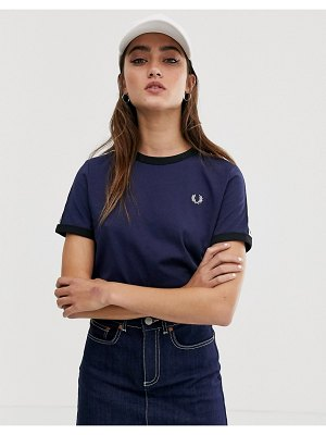 Fred Perry taped ringer t-shirt-black