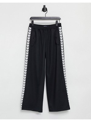Fred Perry taped track pants in black