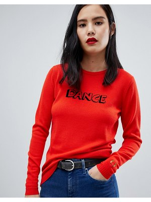 Fred Perry x bella freud dance knit red sweater