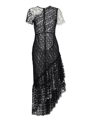 Frederick Anderson chantilly lace midi dress