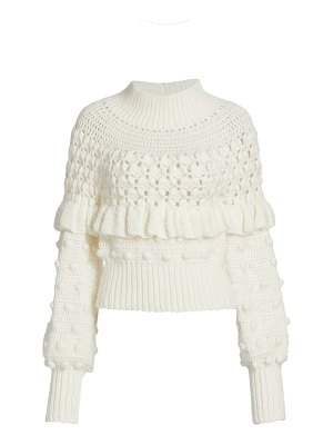 Frederick Anderson hand-crochet knit sweater