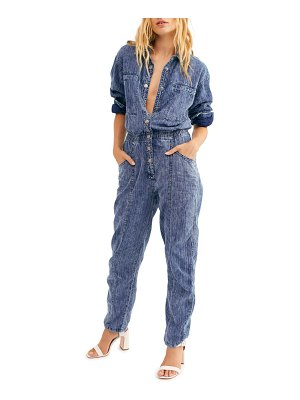 Free People ari button up coveralls
