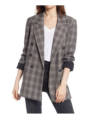 Free People ashby plaid double breasted blazer