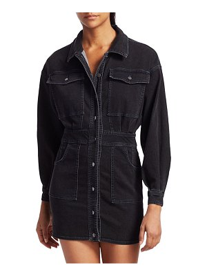 Free People Bo Denim Shirtdress