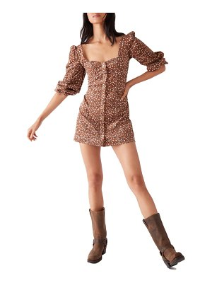 Free People call me cord puff shoulder minidress