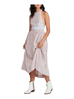 Free People Color Theory Plaid Midi Dress