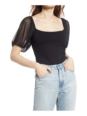 Free People convertible puff sleeve top