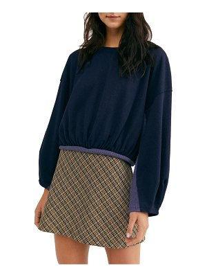 Free People cuddle bubble mixed knit top