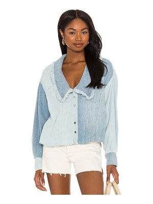 Free People daisy baby button down top