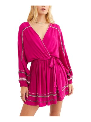 Free People delilah embroidered long sleeve minidress