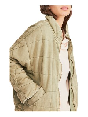 Free People dolman sleeve quilted jacket