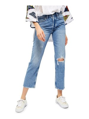 Free People fast times high waist straight leg jeans