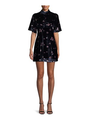 Free People Floral Velvet Mini Dress