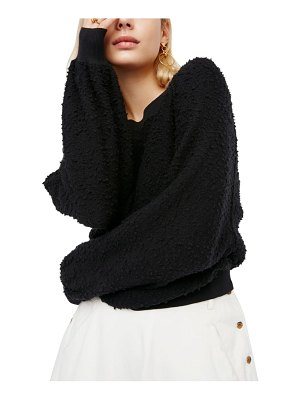 Free People found my friend boucle pullover