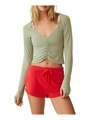 Free People FP Movement courtside long sleeve shirt