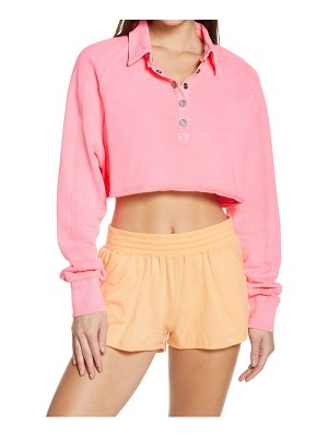 Free People FP Movement crop half snap pullover