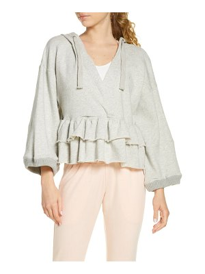 Free People FP Movement side swept ruffle hoodie